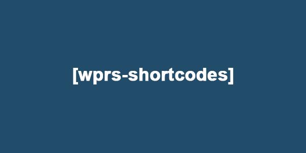 WPRS Shortcodes