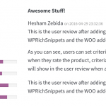 WooCommerce User Reviews Example